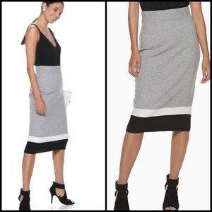 New! Cara Santana Color Block Sweater Skirt
